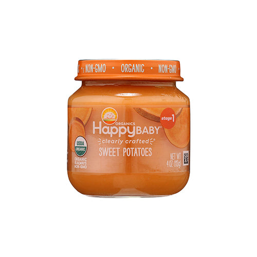 Happy Baby Clearly Crafted Sweet Potatoes Jar Stage 1 113g