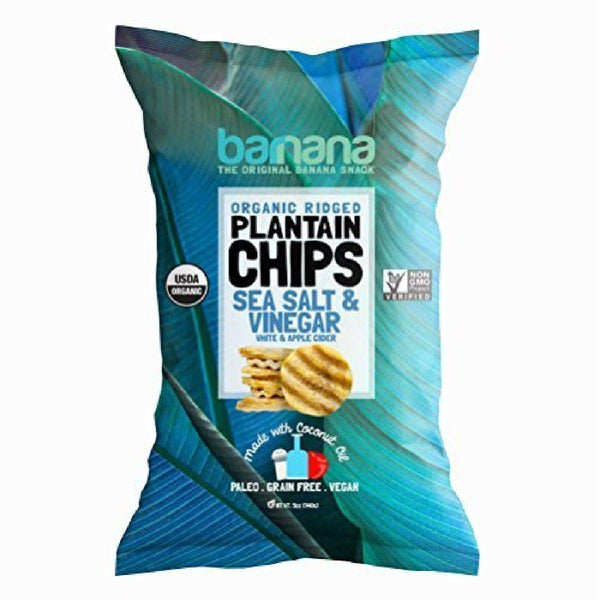Barnana Organic Ridged Plantain Chips Sea Salt & Vinegar 140g
