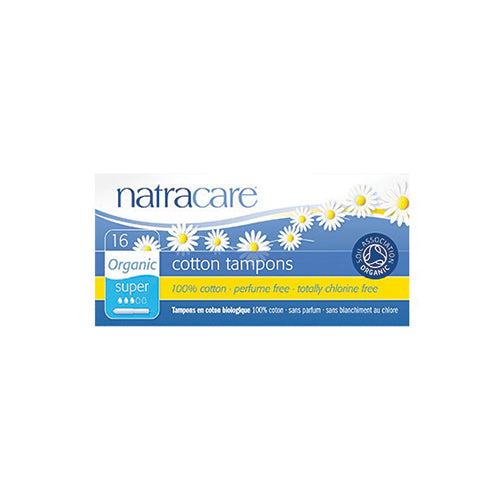 Natracare Organic Cotton Tampons Super with Applicator 16ct