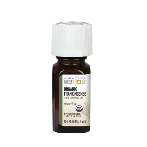 Aura Cacia Organic Frankincense Pure Essential Oil 7.4ml