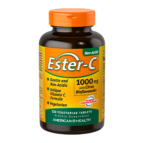 American Health Ester-C® 1,000mg with Citrus Bioflavonoids 120 Vegetarian Tablets
