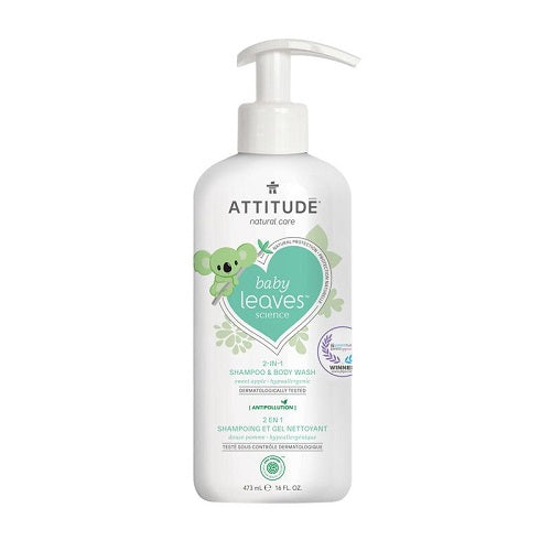Attitude Baby Leaves 2-in-1 Shampoo & Body Wash Sweet Apple 473ml