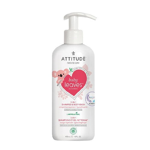 Attitude Baby Leaves 2-in-1 Shampoo & Body Wash Orange & Pomegranate 473ml