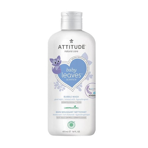 Attitude Baby Leaves Bubble Wash Almond Milk 473ml