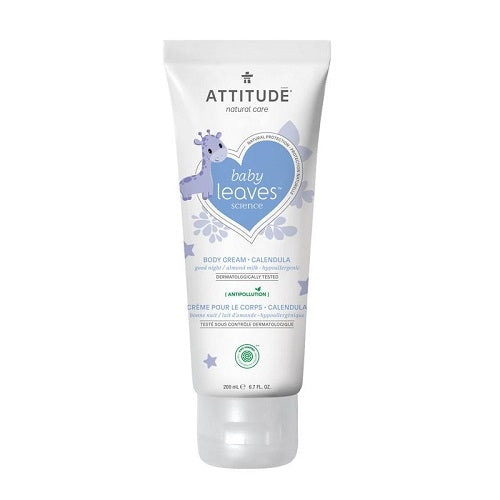 Attitude Baby Leaves Calendula Body Cream Almond Milk 200ml