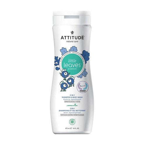 Attitude Little Leaves 2-in-1 Shampoo & Body Wash Blueberry 473ml