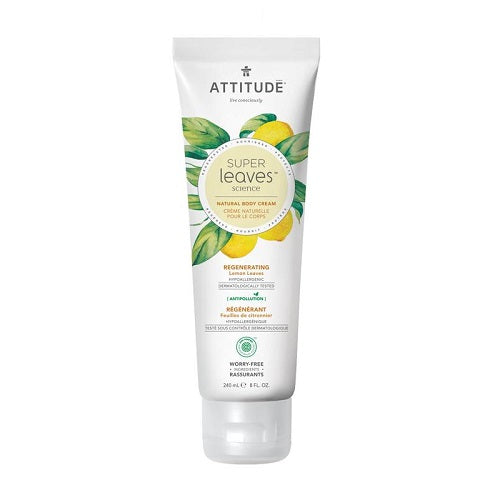 Attitude Super Leaves Regenerating Lemon Leaves Body Cream 240ml