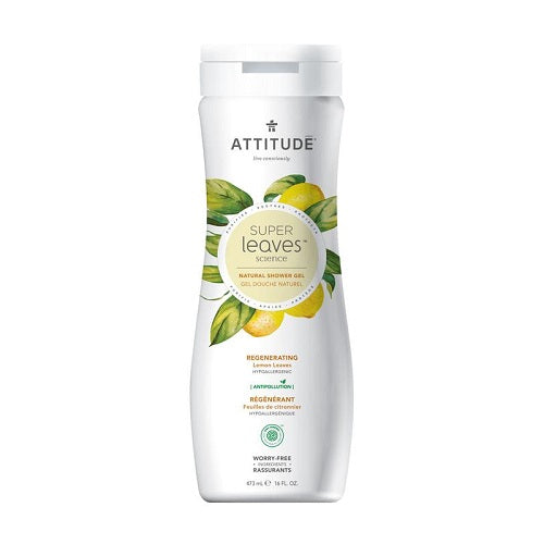 Attitude Super Leaves Regenerating Lemon Leaves Shower Gel 473ml