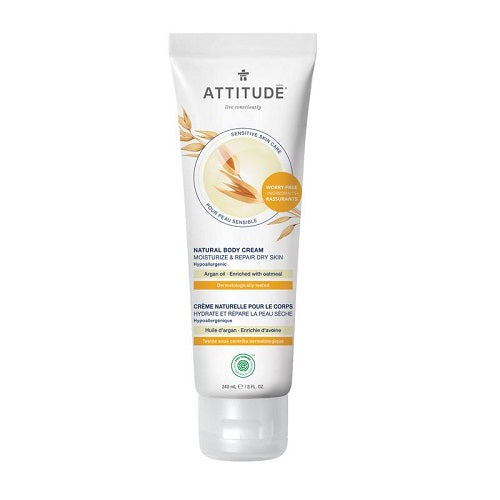Attitude Sensitive Skin Moisturize & Repair Argan Body Cream 240ml