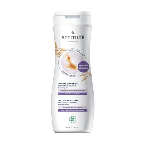 Attitude Sensitive Skin Soothing & Calming Chamomile Shower Gel 473ml