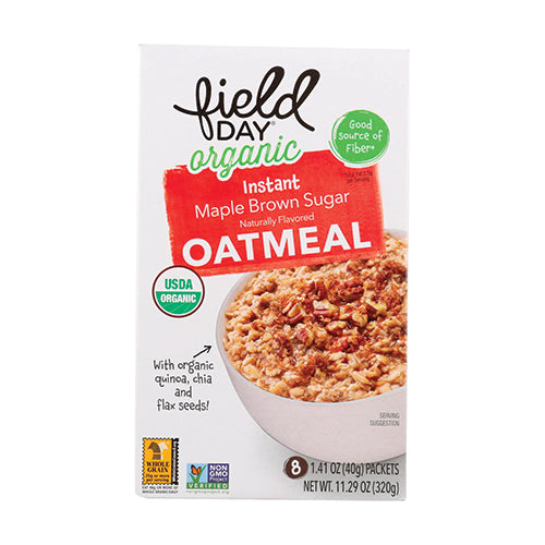 Field Day Organic Instant Maple Brown Sugar Oatmeal 320g