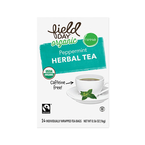 Field Day Organic Peppermint Herbal Tea 16 tea bags
