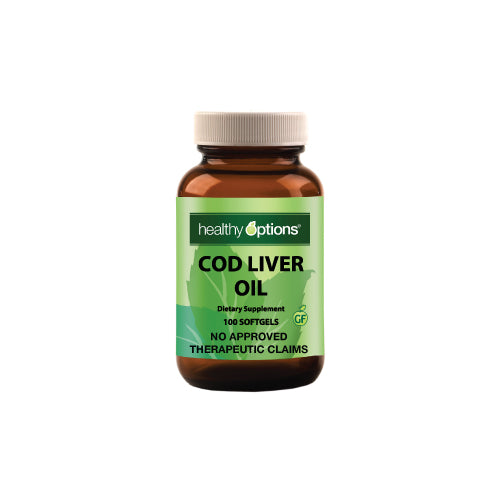 Healthy Options Cod Liver Oil 100 Softgels