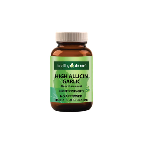 Healthy Options High Allicin Garlic 500mg 60 Tablets
