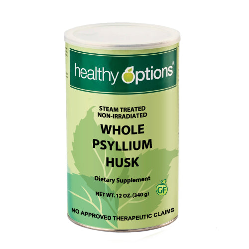 Healthy Options Organic Whole Psyllium Husk 12 Ounces