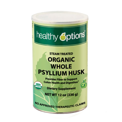 Healthy Options Organic Whole Psyllium Husk 336 Grams