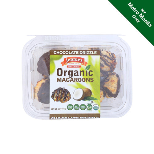Jennies Organic Chocolate Drizzle Macaroons 227g