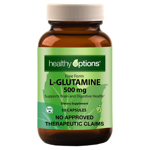 Healthy Options L-Glutamine 500mg 50 Capsules