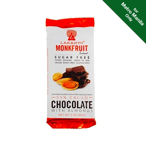 Lakanto Monkfruit 55% Cacao Chocolate With Almonds 85g
