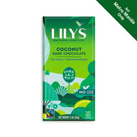Lily's Sweets Coconut Dark Chocolate Bar 55% Cocoa 85g
