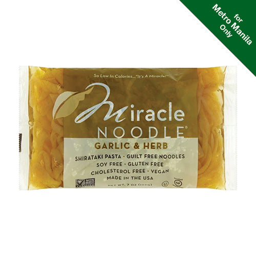 Miracle Noodle Garlic & Herb Shirataki Pasta 198g