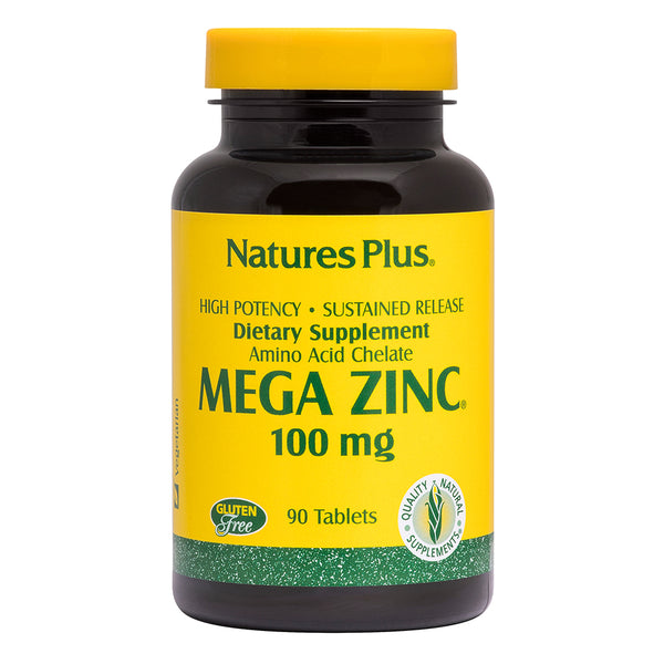 Nature's Plus Sustained Release Mega Zinc 100mg 90 Tablets