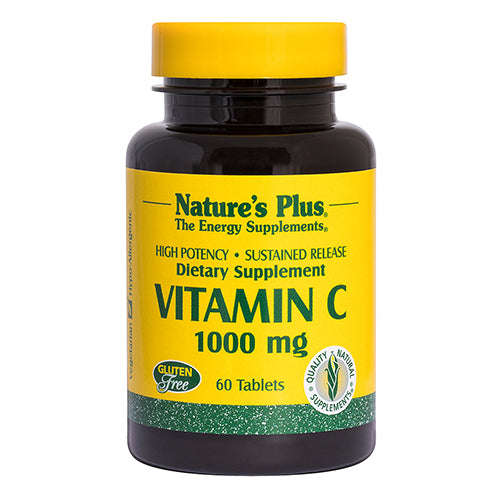 Nature's Plus Sustained Release Vitamin C 1,000mg with Rose Hips 60 Tablets