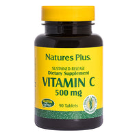 Nature's Plus Sustained Release Vitamin C 500mg with Rose Hips 90 Tablets