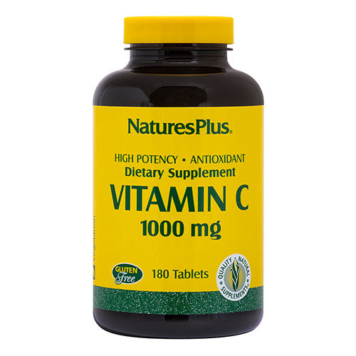 Nature's Plus Vitamin C 1,000mg with Rose Hips 180 Tablets