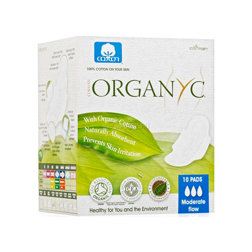 Organyc Cotton Day Pads Moderate Flow 10 Pads