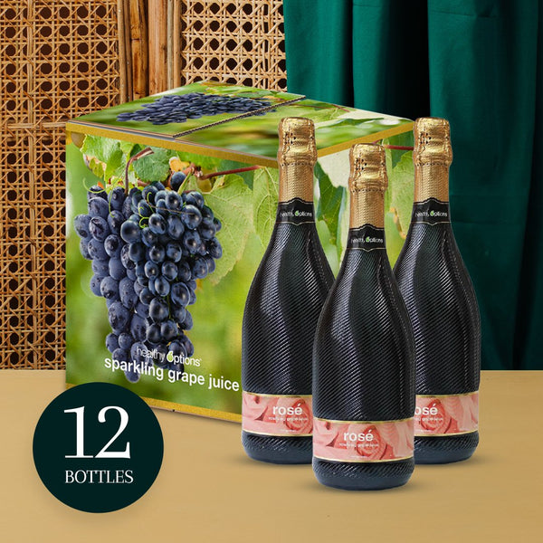 Healthy Options Rose Sparkling Grape Juice 750ml (Box of 12s)