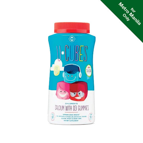 Solgar U-Cubes Children's Calcium with Vitamin D3 Gummies