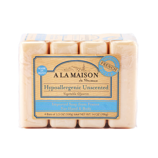 A La Maison Hypoallergenic Unscented Bar Soap 396g