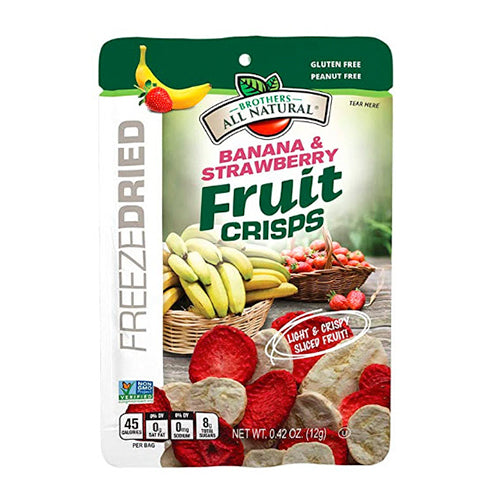 Brothers All Natural Freeze Dried Banana & Strawberry Fruit Crisps 12g