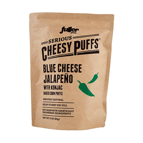 Fuller Foods Serious Cheesy Puffs Blue Cheese Jalapeno 85g