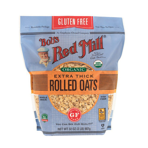 Bob's Red Mill Gluten-Free Organic Extra Thick Rolled Oats 907g