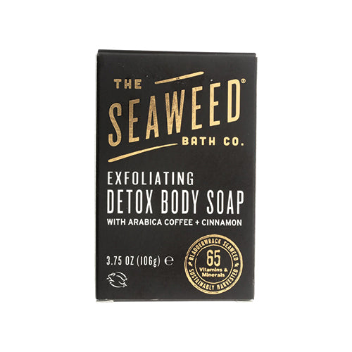 The Seaweed Bath Co. Exfoliating Detox Body Soap with Arabica Coffee + Cinnamon 106g