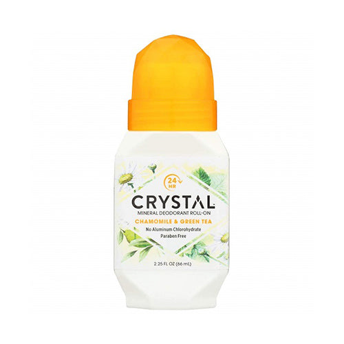 Crystal Body Chamomile & Green Tea Mineral Roll-on Deodorant 66ml