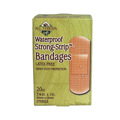 All Terrain Waterproof Strong Strip Bandages 20count