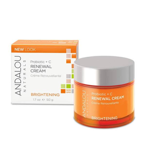 Andalou Naturals Brightening Probiotic + Vitamin C Renewal Cream 50g