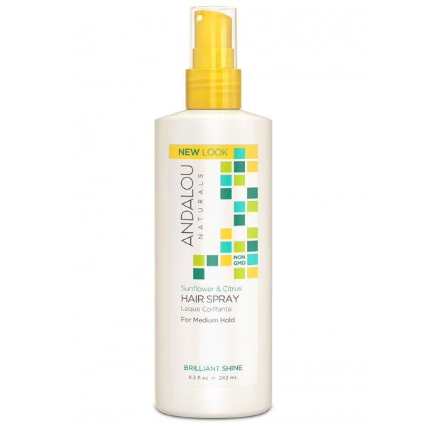 Andalou Naturals Brilliant Shine Sunflower & Citrus Hair Spray 242ml