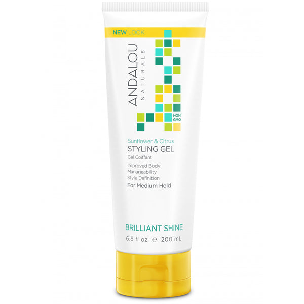 Andalou Naturals Brilliant Shine Sunflower & Citrus Styling Gel 200ml