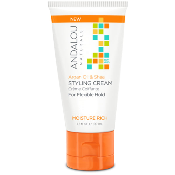 Andalou Naturals Moisture Rich Argan & Shea Travel Styling Cream 50ml