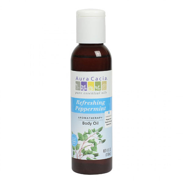 Aura Cacia Refreshing Peppermint Body Oil 118ml