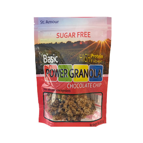 St. Amour Sugar-Free Basic Power Granola Chocolate Chip 284g