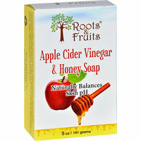 Roots & Fruits Apple Cider Vinegar & Honey Soap 141g