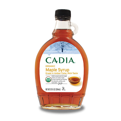 Cadia Organic Maple Syrup Amber Color, Rich Taste 354mL