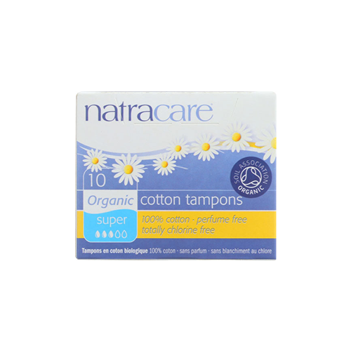 Natracare Cotton Tampons Super Flow 10 Count