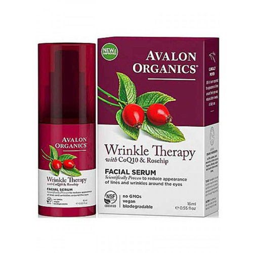 Avalon Organics Wrinkle Therapy with CoQ10 Facial Serum 16ml