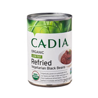 Cadia Organic Low Fat Refried Vegetarian Black Beans 425g
